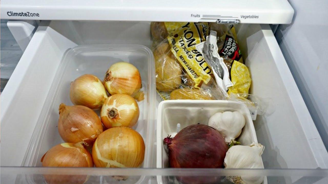Фото чеснока в холодильнике