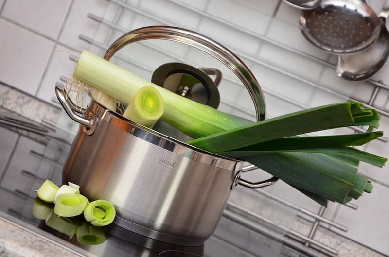 Фото лука порея в кулинарии