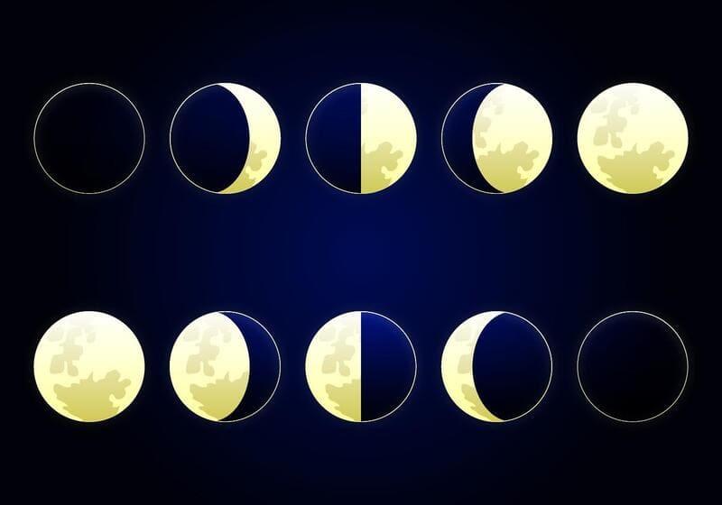 Фото фазы луны