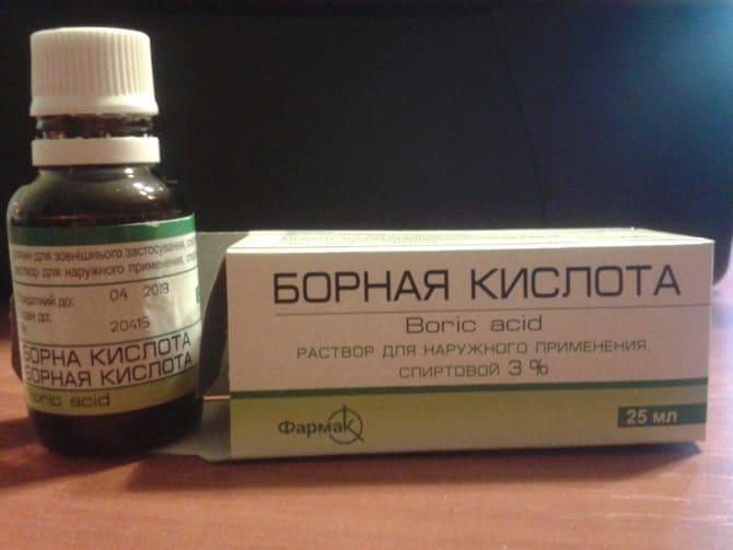 Фото борной кислоты