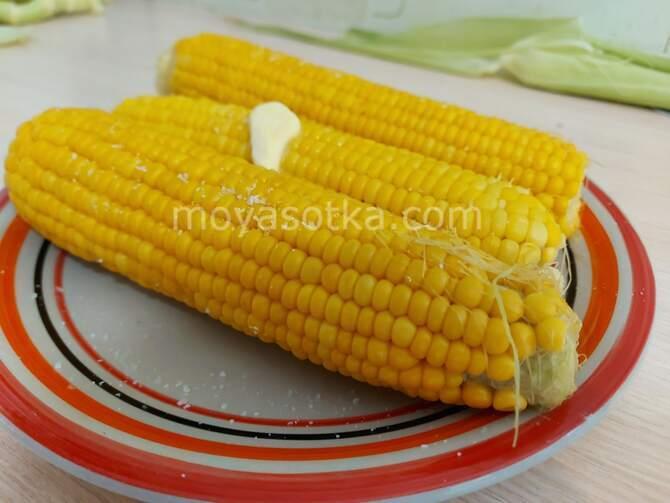 Фото готовой кукурузы