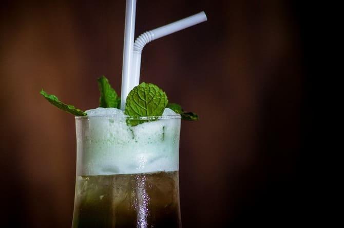 Фото напитка с мятой