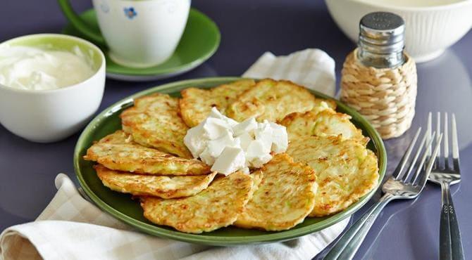 Фото оладьев с сыром