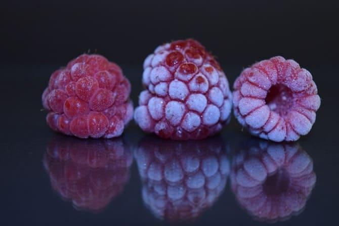 Фото замороженной малины
