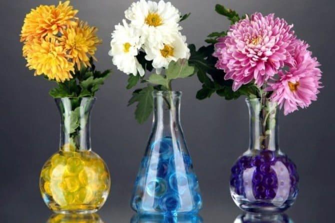 Фото хризантем в вазе
