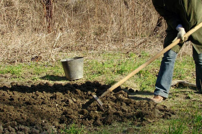 Фото подготовки почвы