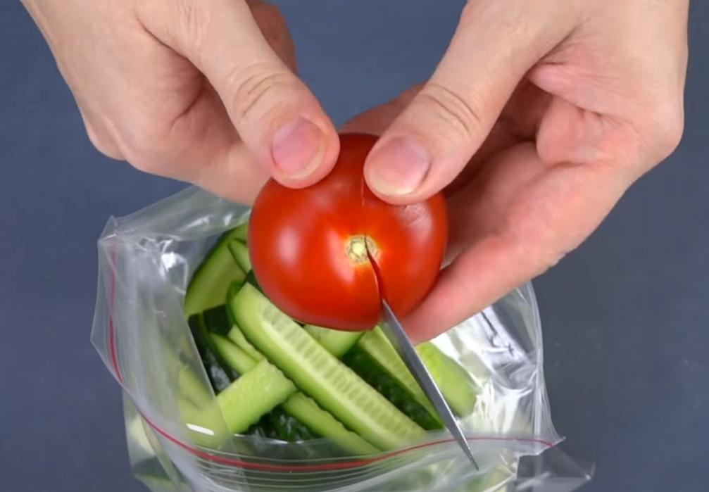Нарезка: помидоры